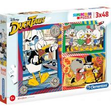 Clementoni - Puzzle Supercolor 3 x 48 elementów - Kacze Opowieści - 25226