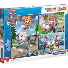 Clementoni - Puzzle Supercolor 3 x 48 elementów - Psi Patrol - 25260