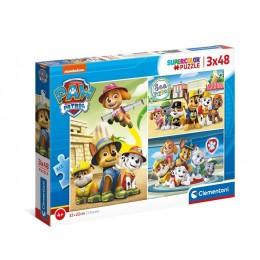 Clementoni – Puzzle Supercolor 3 x 48 elementów – Psi Patrol – 25262