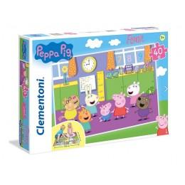 Clementoni – Puzzle Supercolor podłogowe 40 elementów – Świnka Peppa – 25458