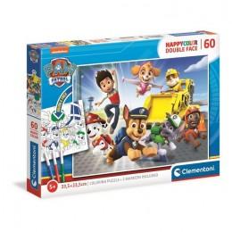 Clementoni – Puzzle Happycolor kolorowanka 60 elementów – Psi Patrol – 26097