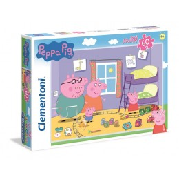 Clementoni – Puzzle Supercolor Maxi 60 elementów – Świnka Peppa – 26438