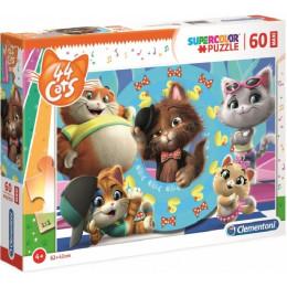 Clementoni - Puzzle Maxi 60 elementów - 44 Koty - 26441