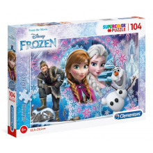Clementoni - Puzzle Brokatowe SuperColor - Frozen Kraina Lodu 104 el. - 27248