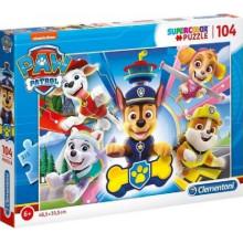 Clementoni - Puzzle Supercolor 104 elementy - Psi Patrol - 27262