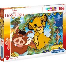 Clementoni - Puzzle Supercolor 104 elementy - Król Lew - 27287