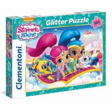 Clementoni - Puzzle Brokatowe SuperColor - Shimmer i Shine 104 el. - 27991