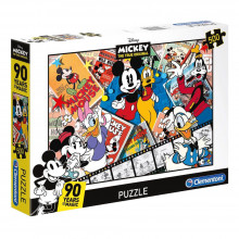 Clementoni - Puzzle Disney Mickey Mouse 90 years of magic 500 elementów - 35061
