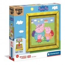 Clementoni – Puzzle z ramką 60 elementów – Świnka Peppa – 38809