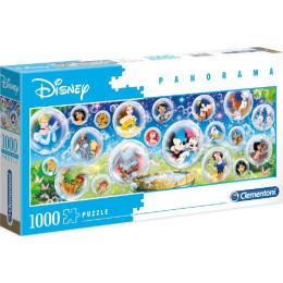 Clementoni - Puzzle panoramiczne 1000 elementów - Postacie Disneya - 39515