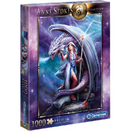Clementoni - Puzzle 1000 elementów - Anne Stokes Collection - Dragon  - 39525