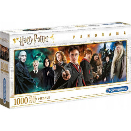 Clementoni - Puzzle panoramiczne 1000 elementów - Harry Potter - 61883