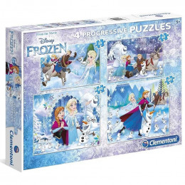 Clementoni - Puzzle 4 układanki Frozen - 07723