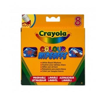 Crayola – Markery ścieralne zmazywalne do białej tablicy – 8 kolorów – 8223