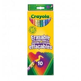 Crayola – Kredki ołówkowe ścieralne – 10 kolorów – 6352