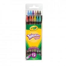 Crayola - Kredki Ołówkowe wykręcane 12 kolorów - 7582