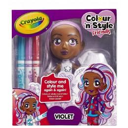 Crayola – Lalka do malowania Violet 9393
