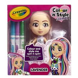 Crayola – Lalka do malowania Lavender 9409