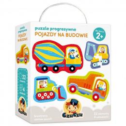 CzuCzu 490074 - Puzzle Progresywne - Pojazdy na budowie