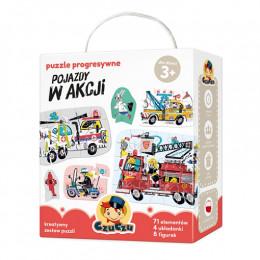 CzuCzu 490081 - Puzzle Progresywne  - Pojazdy w akcji