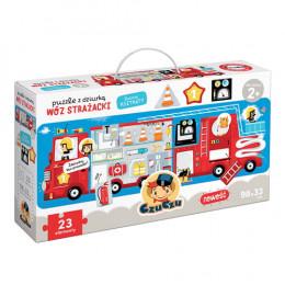 CzuCzu - 6500955 - Puzzle z dziurką: Wóz strażacki