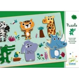 DJECO 01258 Puzzle Drewniane - Dżungla
