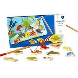 DJECO 01652 Gra zręcznościowa - Łowienie rybek - Tropiki