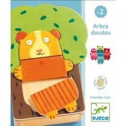 DJECO Puzzle Drewniane - Drzewo Milusińskich 01681