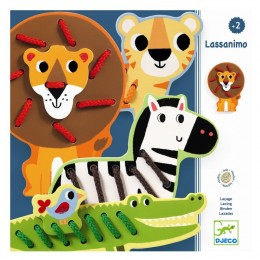 DJECO - Nawlekanka Lassanimo ze zwierzętkami - 01683