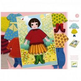 DJECO - Układanka edukacyjna - Filcowa ubieranka Cleo Tricot 01697