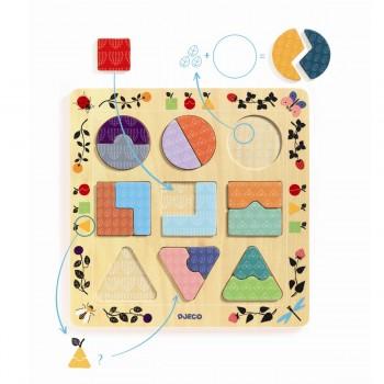 DJECO - Puzzle Ludigraphic - Kształty i wzory 01802
