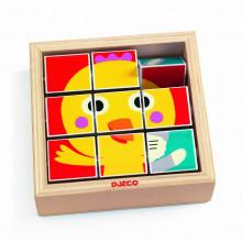 DJECO - Drewniane puzzle obrotowe Tournifarm – 01954