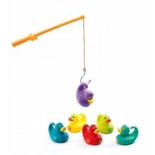 DJECO 02006 Mała gra zręcznościowa - Łowienie kolorowych kaczuszek