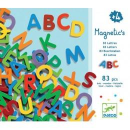 DJECO 03101 Drewniane Magnesy - Kolorowe Literki