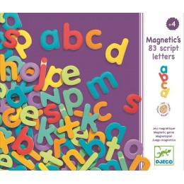 DJECO 03102 Drewniane Magnesy - Małe Literki