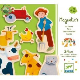 DJECO 03110 Drewniane Magnesy - Farma
