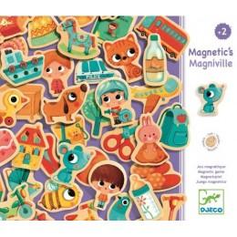 DJECO 03123 Drewniane Magnesy - Miasteczko
