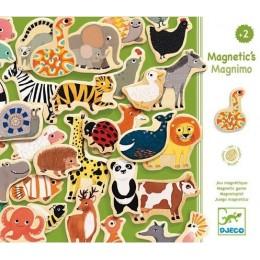 DJECO 03124 Drewniane Magnesy - Zwierzęta