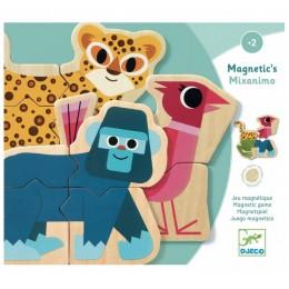 DJECO – Magnetyczne puzzle ze zwierzątkami Mixanimo 03126