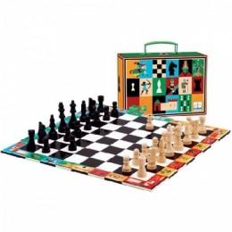 DJECO 05225 Gra strategiczna - Szachy i warcaby w walizce