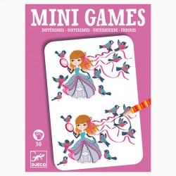 DJECO 05307 Mini gra - Znajdź różnice: LEA - różowe