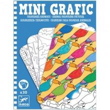 DJECO Mini grafika - Kolorowanka Zwierzęta 05382
