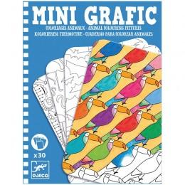 DJECO 05382 Mini grafika - Kolorowanka Zwierzęta