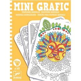 DJECO 05383 Mini grafika - Mandale do kolorowania