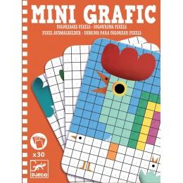 DJECO 05388 Mini grafika - Kolorowanka Piksele