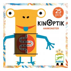 DJECO 05600 Układanka magnetyczna Kinoptik - Potworki