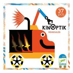 DJECO 05601 Układanka magnetyczna Kinoptik - Pojazdy