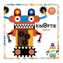 DJECO 05611 Układanka magnetyczna Kinoptik - Roboty