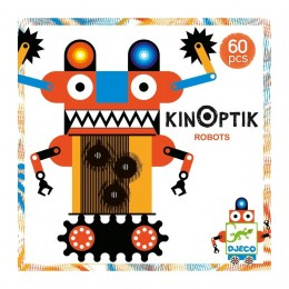 DJECO 05611Układanka magnetyczna Kinoptik - Roboty