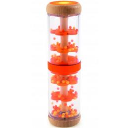 DJECO - Drewniany shaker z kulkami - pomarańczowy 06380